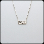 fine silver rectangle pendant