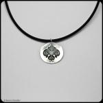 fine silver round fleur de lis pendant