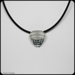 fine silver pendant, hidden bail