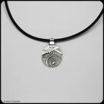 fine silver oval pendant
