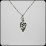 fine silver teardrop pendant