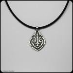 fine silver celtic teardrop