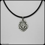fine silver celtic teardrop