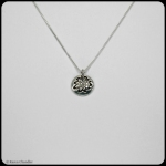 fine silver round floral pendant