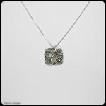 fine silver square pendant