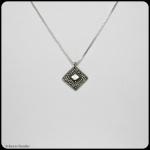 fine silver diamond pendant