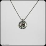 fine silver pendant set with almandine garnet