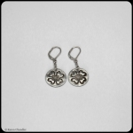 fine silver dogwood, sterling silver earrings