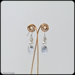 fine silver, freshwater pearls, sterling silver earrings