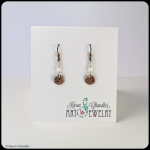 copper, glass, niobium earwire earrings
