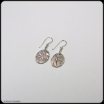 fine silver ovals, sterling silver earrings