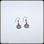 fine silver, crystal bead, sterling silver earrings