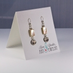 mother of pearl, fine silver, sterling silver earrings
